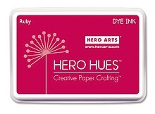 Hero Arts Dye Ink RUBY Stamp Pad Pink Hue AF150 zoom image