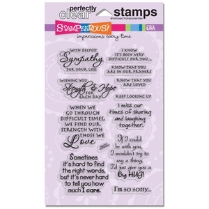 Stampendous Clear Stamps SINCERE SENTIMENTS SSC1117