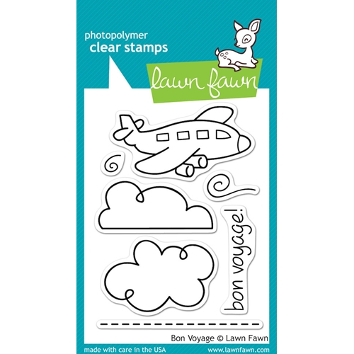 Lawn Fawn BON VOYAGE Clear Stamps* Preview Image
