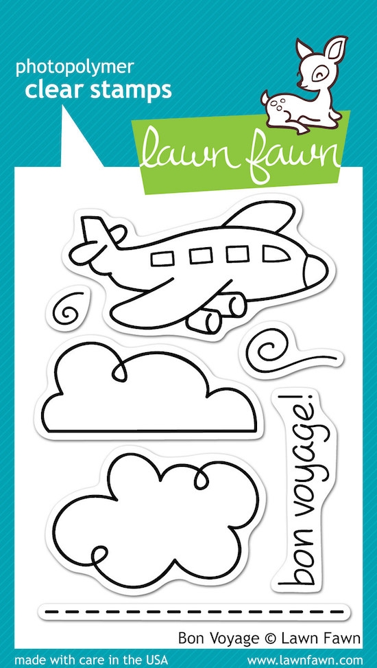 Lawn Fawn BON VOYAGE Clear Stamps zoom image