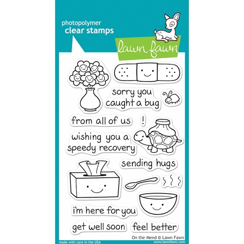 Lawn Fawn ON THE MEND Clear Stamps Preview Image