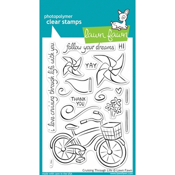 Lawn Fawn CRUISING THROUGH LIFE Clear Stamps