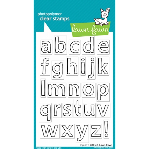 Lawn Fawn QUINN'S ABCs Clear Stamps Preview Image