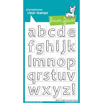 Lawn Fawn QUINN'S ABCs Clear Stamps