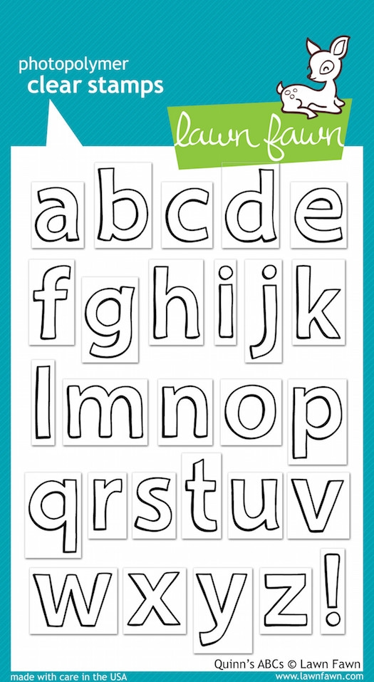 Lawn Fawn QUINN'S ABCs Clear Stamps zoom image