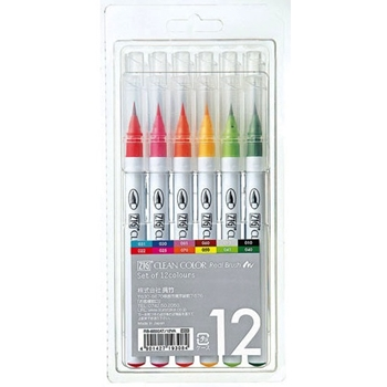 Zig Clean Colour Real Brush markers 12