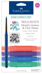 Faber-Castell METALLIC GELATOS & CLEAR STAMP 770155 Preview Image