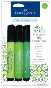 Faber-Castell GREEN Stampers Big Brush Pens Set of 3 770052 zoom image