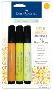 Faber-Castell YELLOW Stampers Big Brush Pens Set of 3 770051