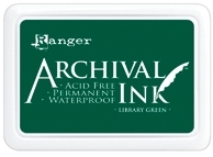 Ranger Archival Ink Pad LIBRARY GREEN AIP31475