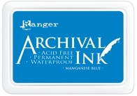 Ranger Archival Ink Pad MANGANESE BLUE AIP30454