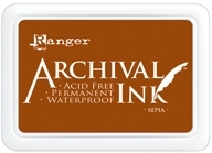 Ranger Archival Ink Pad SEPIA AIP31505