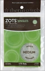 Zots SINGLES MEDIUM Clear Adhesive 175 Dots 3691