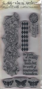 Tim Holtz Visual Artistry BOUNDLESS FLIGHT Cling Stamps Set css30188