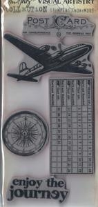 Tim Holtz Visual Artistry THE JOURNEY CLING Stamps Set css30232