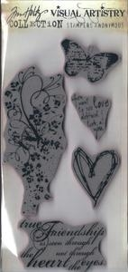 Tim Holtz Visual Artistry HEARTFELT Cling Stamps Set  css30218