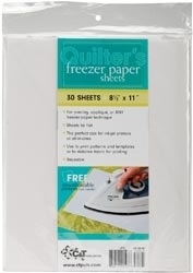 C&T Publishing Quilter's FREEZER PAPER Sheets 8 1/2 x 11