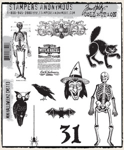 Tim Holtz Cling Rubber Stamps MINI HALLOWEEN 2 TWO CMS113 Preview Image