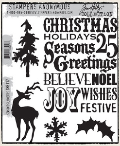 Tim Holtz Cling Rubber Stamps SEASON'S SILHOUETTES CMS117 zoom image