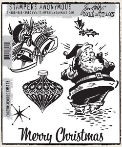 Tim Holtz Cling Rubber Stamps CHRISTMAS MEMORIES CMS118
