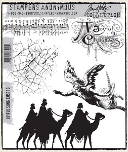 Tim Holtz Cling Rubber Stamps JOYFUL SONG CMS119 Preview Image