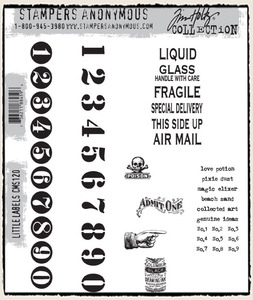 Tim Holtz Cling Rubber Stamps LITTLE LABELS CMS120 Preview Image
