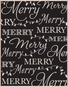 Hero Arts Designblock MERRY BACKGROUND Rubber Stamp S5531* Preview Image