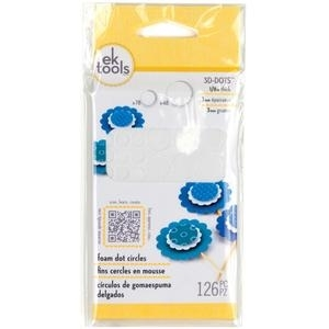 EK Success 1/8 inch CIRCLES 3-D Foam Dots Adhesive 55-01046  zoom image