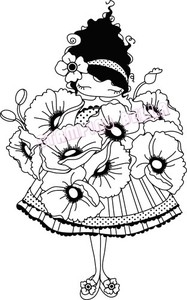 Stamping Bella Cling Stamp LULU LOVES POPPIES Rubber UM LL129 Preview Image