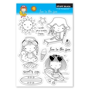 Penny Black Clear Stamps FUN IN THE SUN 30-074