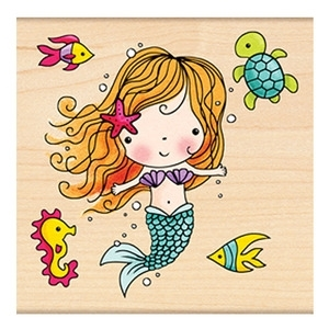 Penny Black Rubber Stamp MIMI THE MERMAID 4186K zoom image