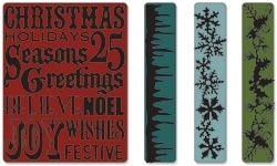 Tim Holtz Sizzix CHRISTMAS BACKGROUNDS & BORDERS Texture Trades 657480