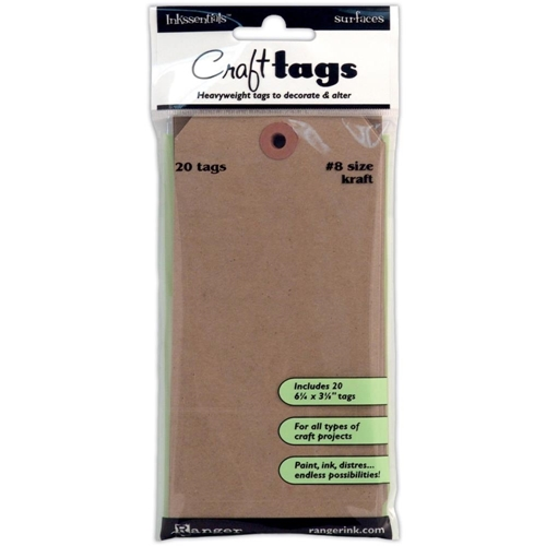 Ranger KRAFT TAG #8 Inkssentials Surfaces 6.25 X 3.125 ISC31864 Preview Image