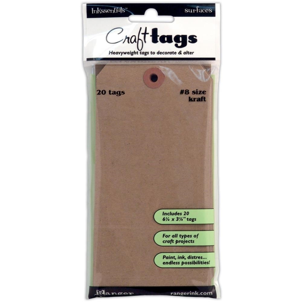 Ranger KRAFT TAG #8 Inkssentials Surfaces 6.25 X 3.125 ISC31864 zoom image