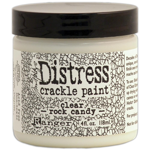 Tim Holtz 4 Oz Crackle Paint ROCK CANDY Distress Clear Ranger TDC31888 Preview Image