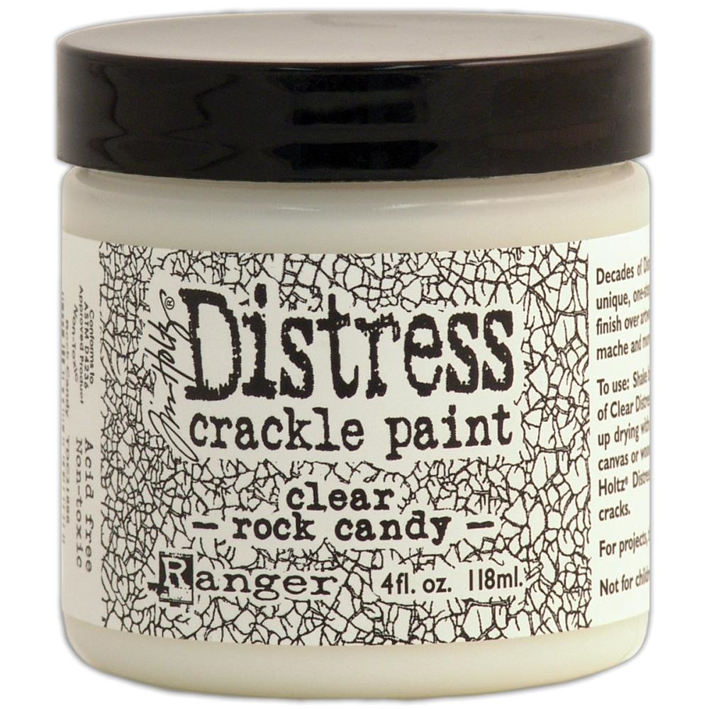 Tim Holtz 4 Oz Crackle Paint ROCK CANDY Distress Clear Ranger TDC31888 zoom image