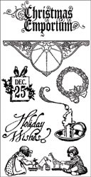 Graphic 45 CHRISTMAS EMPORIUM 1 Rubber Cling Stamps IC0126 zoom image