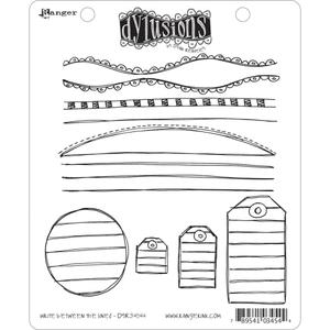 Dyan Reaveley WRITE BETWEEN THE LINES Stamp Set Dylusions Cling Unmounted Rubber*