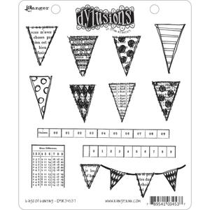Dyan Reaveley BAGS OF BUNTING Stamp Set Dylusions Cling Unmounted Rubber*