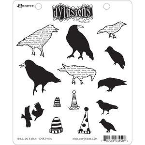 Dyan Reaveley BIRDS ON A WIRE Stamp Set Dylusions Cling Unmounted Rubber *