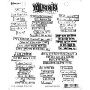 Dyan Reaveley THE RIGHT WORDS Stamp Set Dylusions Cling Unmounted Rubber DYR34520