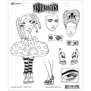 Dyan Reaveley CURIOUS CORRIN Stamp Set Dylusions Cling Unmounted Rubber zoom image