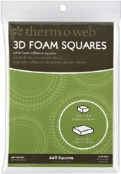 Therm O Web 3D MOUNTING SQUARES White Foam 3777 zoom image