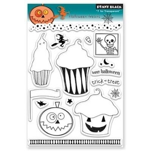 Penny Black Clear Stamps HALLOWEEN TREATS 30-078*