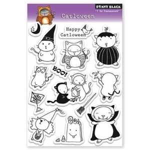 Penny Black Clear Stamps CATLOWEEN 30-075