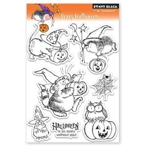 Penny Black Clear Stamps SCARY HALLOWEEN 30-076