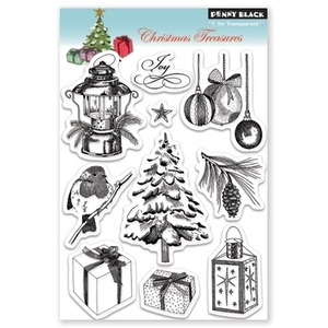 Penny Black Clear Stamps CHRISTMAS TREASURES 30-085