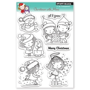 Penny Black Clear Stamps CHRISTMAS WITH MIMI 30-079 zoom image