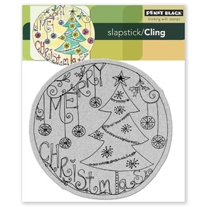 Penny Black Cling Stamp AROUND CHRISTMAS 40-079 Rubber Unmounted