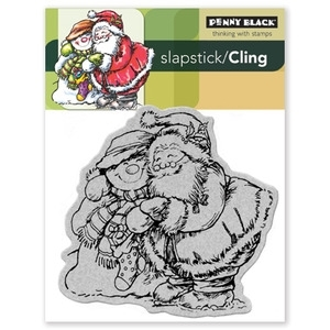 Penny Black Cling Stamp HOLIDAY HUGS 40-081 Rubber Unmounted